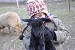 enfant avec agneau